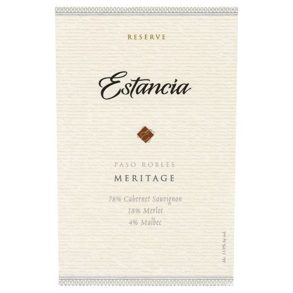 Estancia Reserve Meritage Red 2013 Front Label