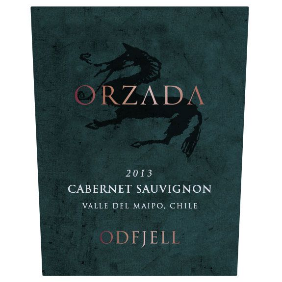 Odfjell Orzada Cabernet Sauvignon 2013 Front Label