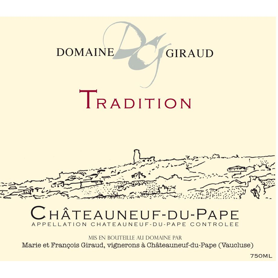 Domaine Giraud Chateauneuf-du-Pape Tradition 2014 Front Label