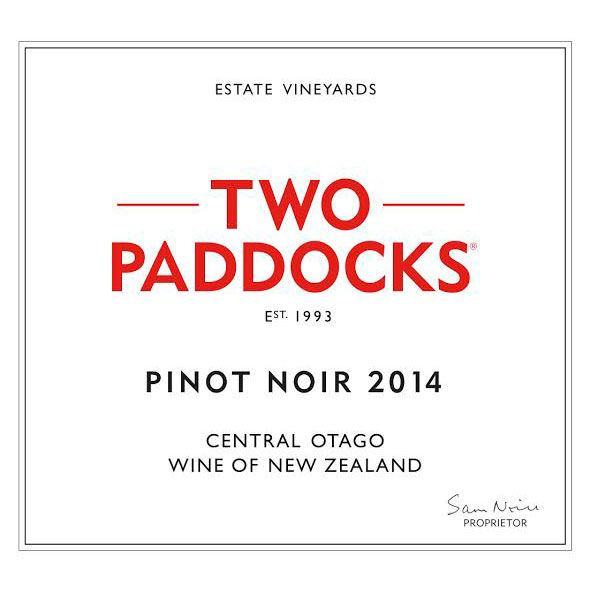 Two Paddocks Pinot Noir 2014 Front Label