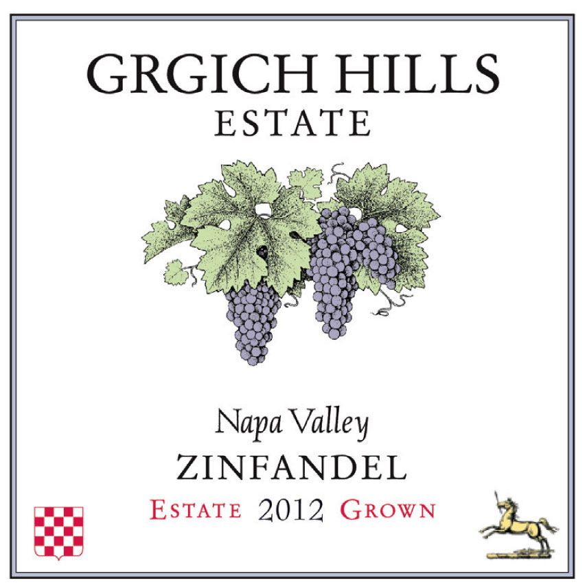Grgich Hills Estate Zinfandel 2012 Front Label