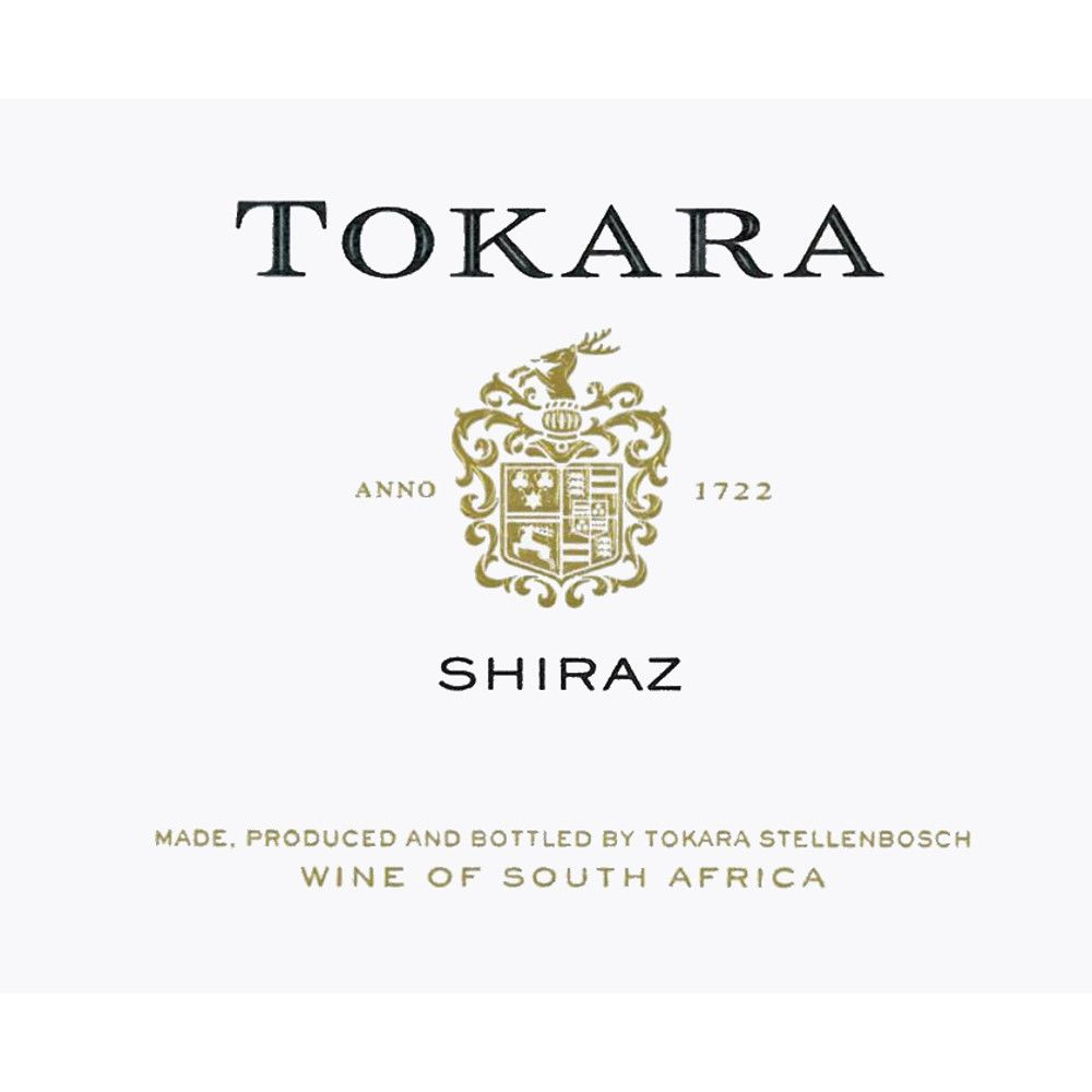 Tokara Shiraz 2013 Front Label