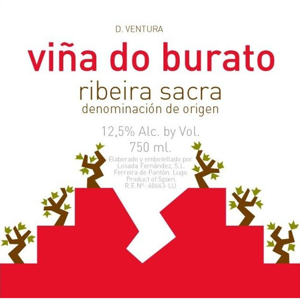 D. Ventura Vina do Burato 2015 Front Label