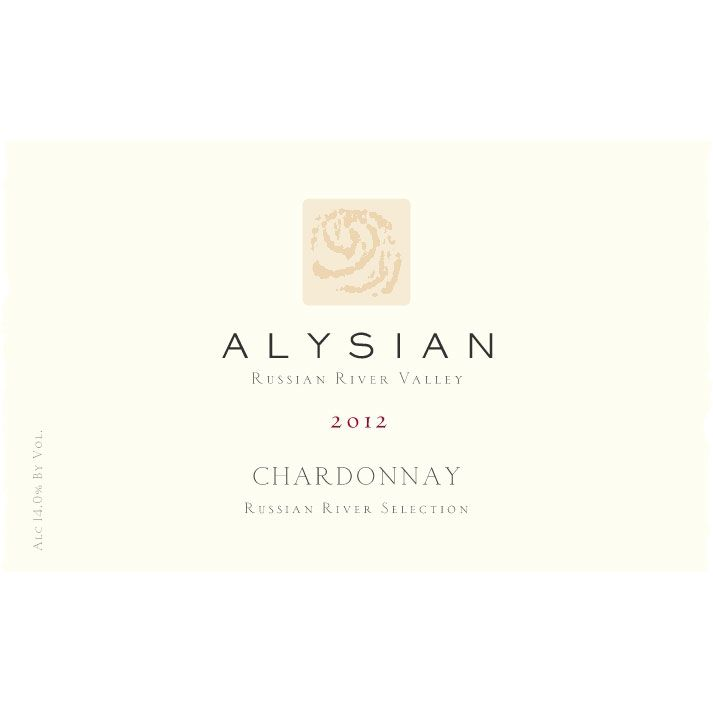 Alysian Russian River Selection Chardonnay 2012 Front Label