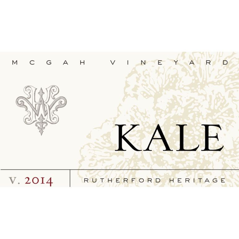 Kale McGah Vineyard Heritage 2014 Front Label