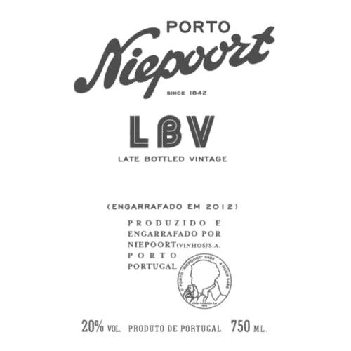 Niepoort Late Bottled Vintage Port 2012 Front Label