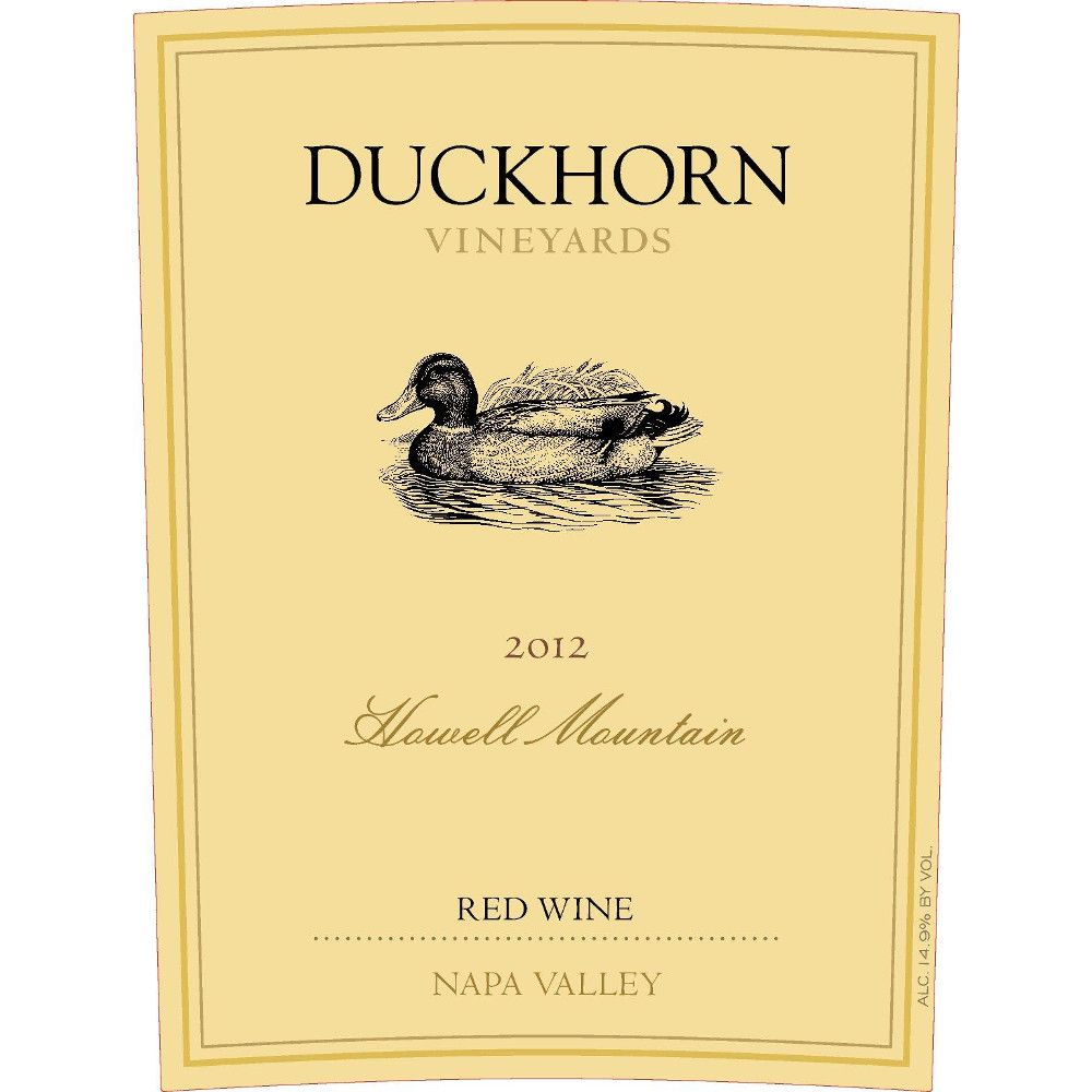Duckhorn Howell Mountain Red Wine 2012 Front Label