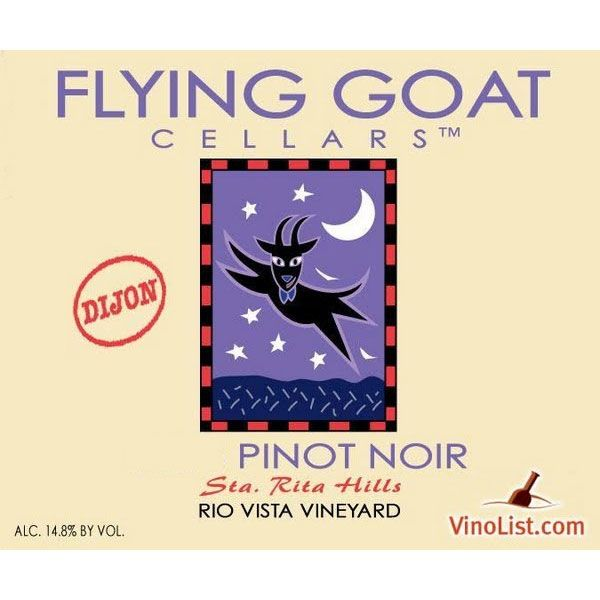 Flying Goat Cellars Rio Vista Vineyard Clone 2A Pinot Noir 2011 Front Label