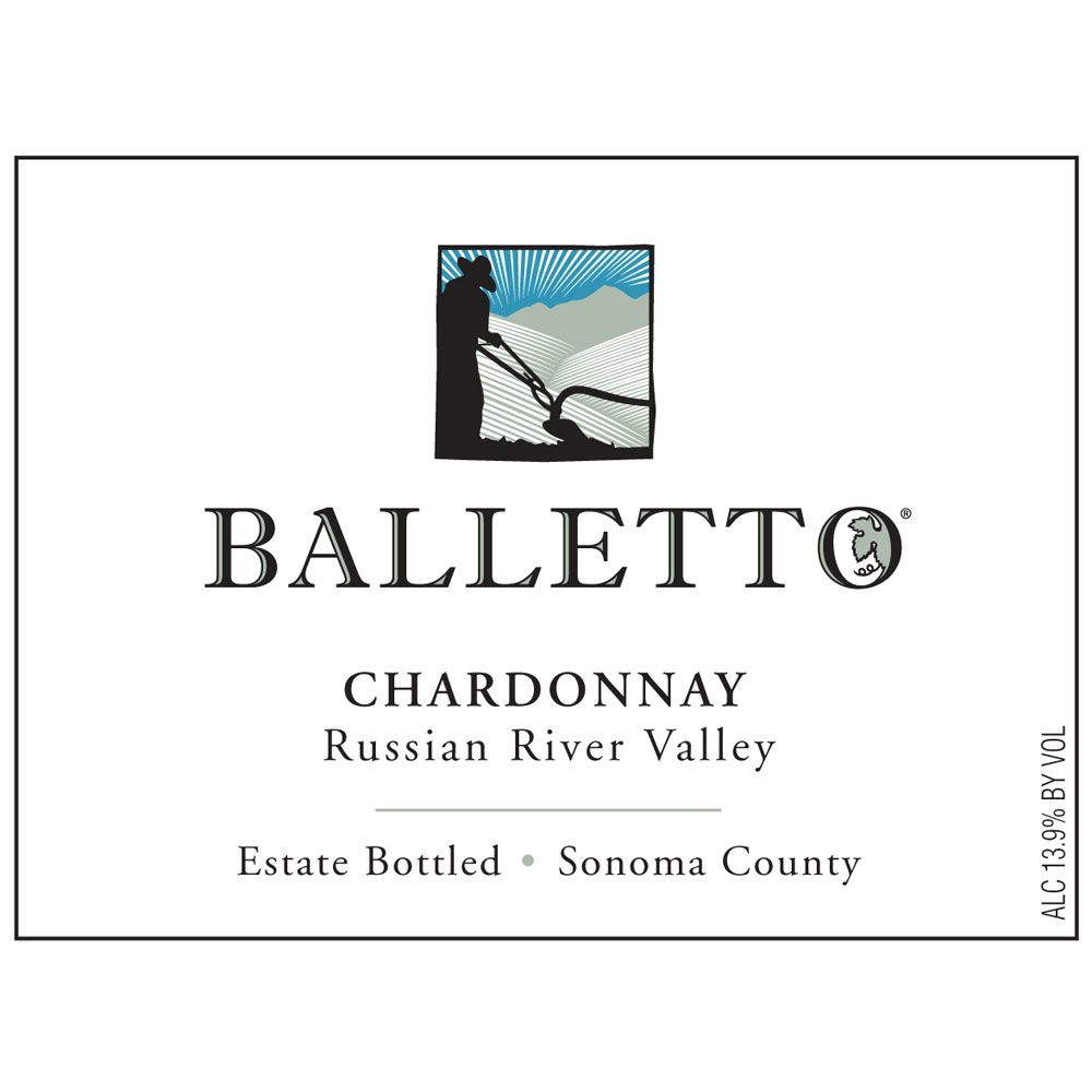 Balletto Winery Russian River Chardonnay 2014 Front Label