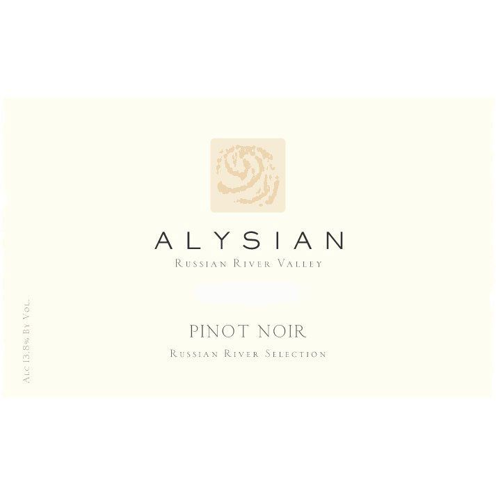 Alysian Russian River Selection Pinot Noir 2013 Front Label