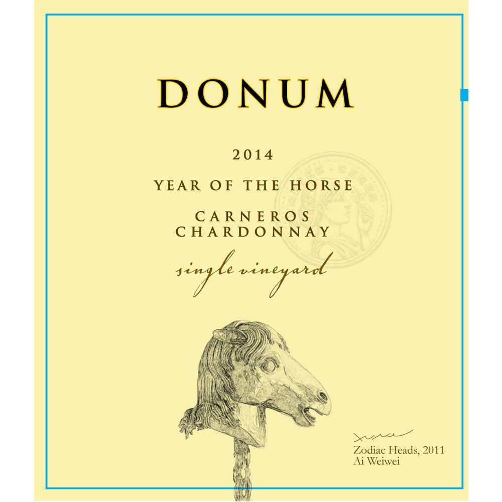 The Donum Estate Carneros Chardonnay 2014 Front Label