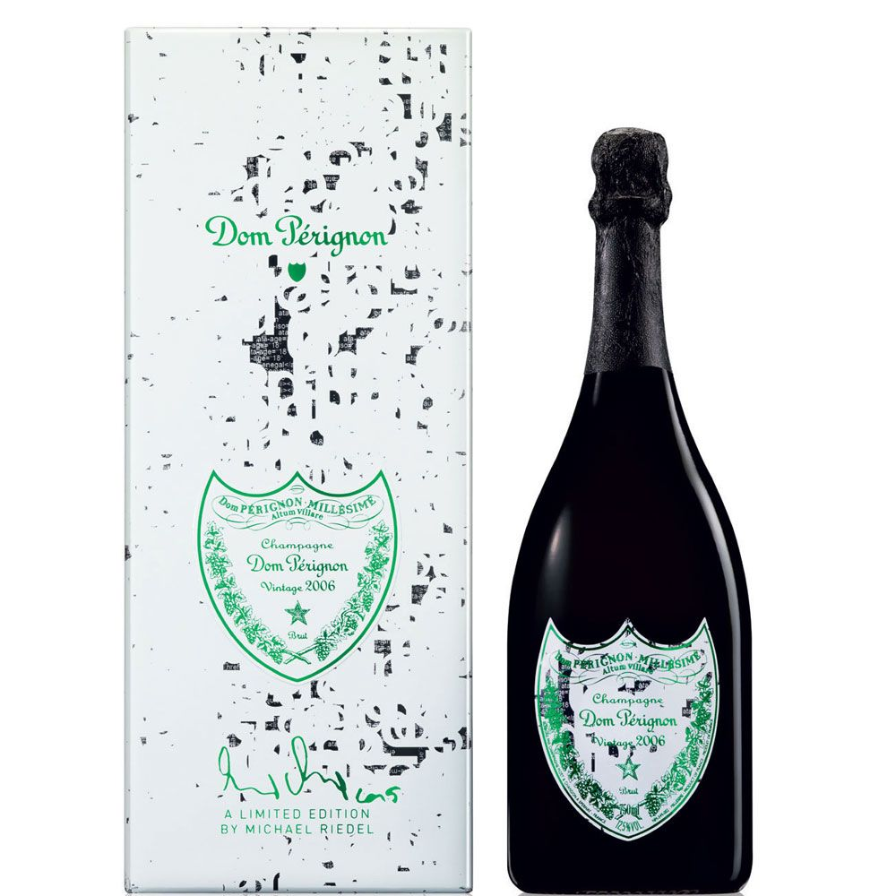 Dom Perignon Limited Edition Gift Box by Michael Riedel 2006 Front Label