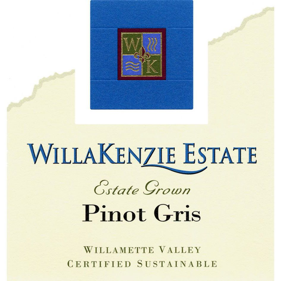 WillaKenzie Estate Pinot Gris (375ML half-bottle) 2014 Front Label