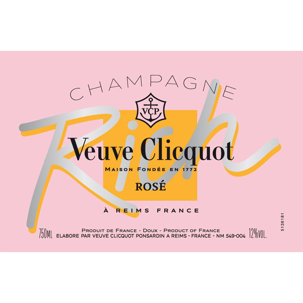 Veuve Clicquot Rich Rose Front Label