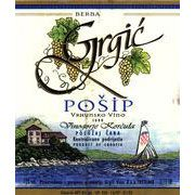 Grgic Vina Posip 2009 Front Label