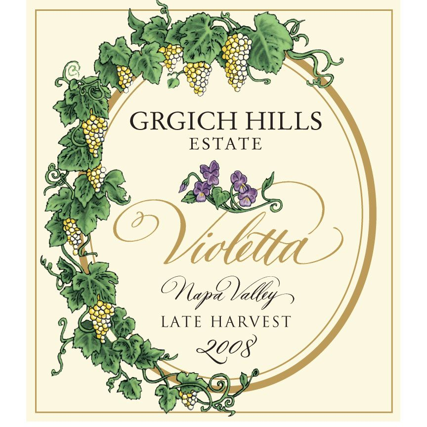 Grgich Hills Estate Violetta - Late Harvest (375ML half-bottle) 2008 Front Label