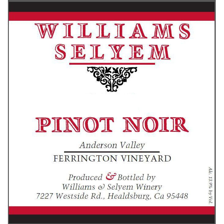 Williams Selyem Ferrington Vineyard Pinot Noir 2014 Front Label