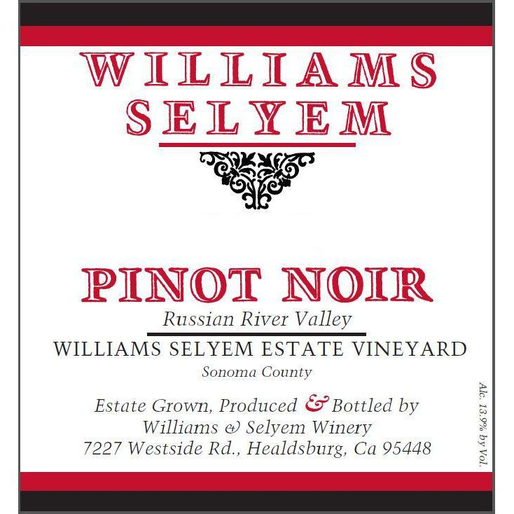 Williams Selyem Estate Vineyard Pinot Noir 2014 Front Label