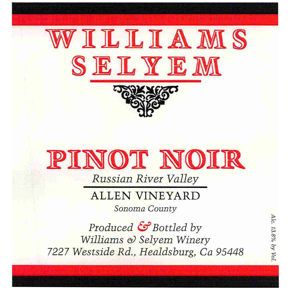 Williams Selyem Allen Vineyard Pinot Noir 2014 Front Label