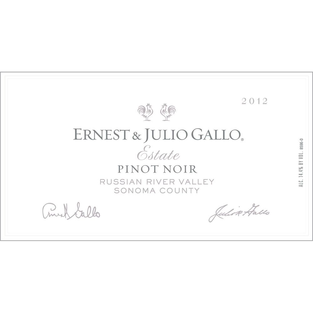Gallo Estate Pinot Noir 2012 Front Label