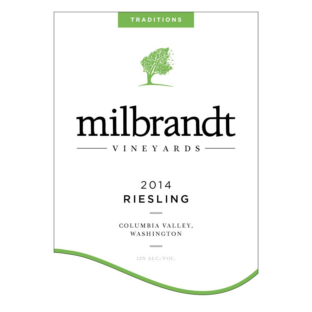 Milbrandt Traditions Riesling 2014 Front Label