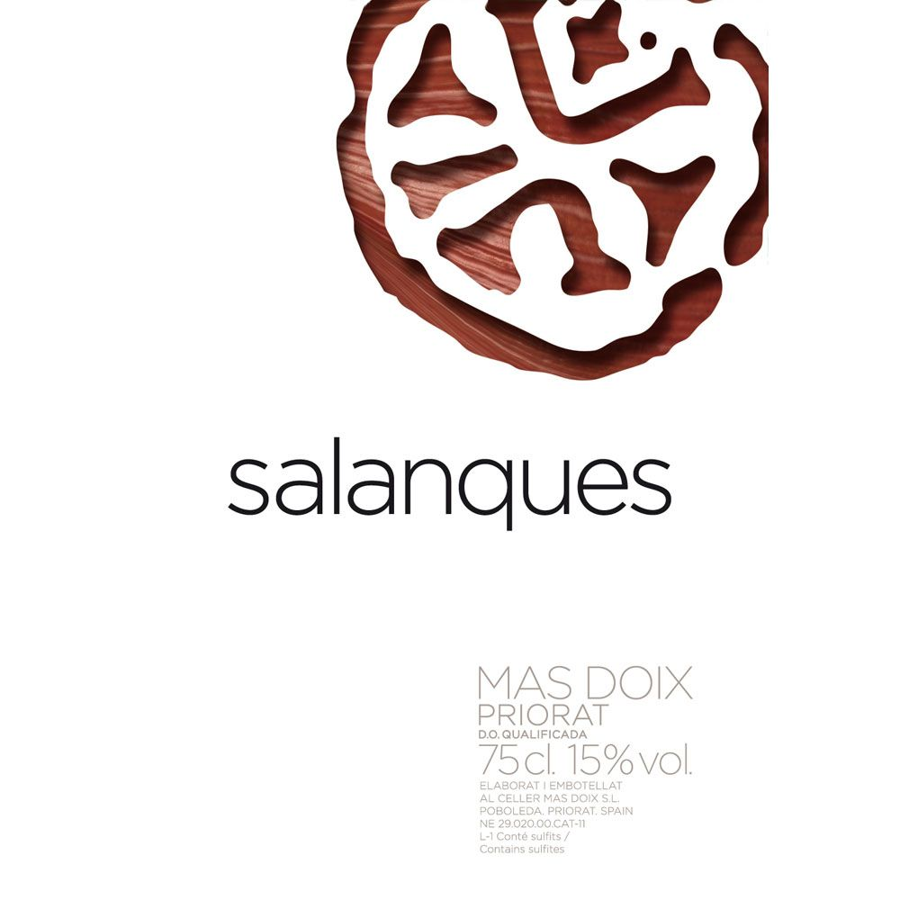 Mas Doix Salanques 2013 Front Label