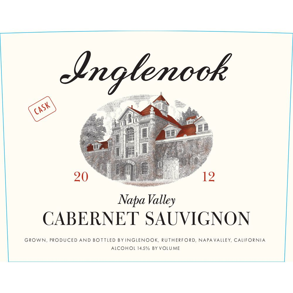 Inglenook Cabernet Sauvignon (375ML half-bottle) 2012 Front Label