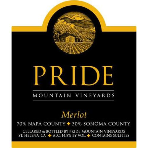 Pride Mountain Vineyards Merlot 1997 Front Label
