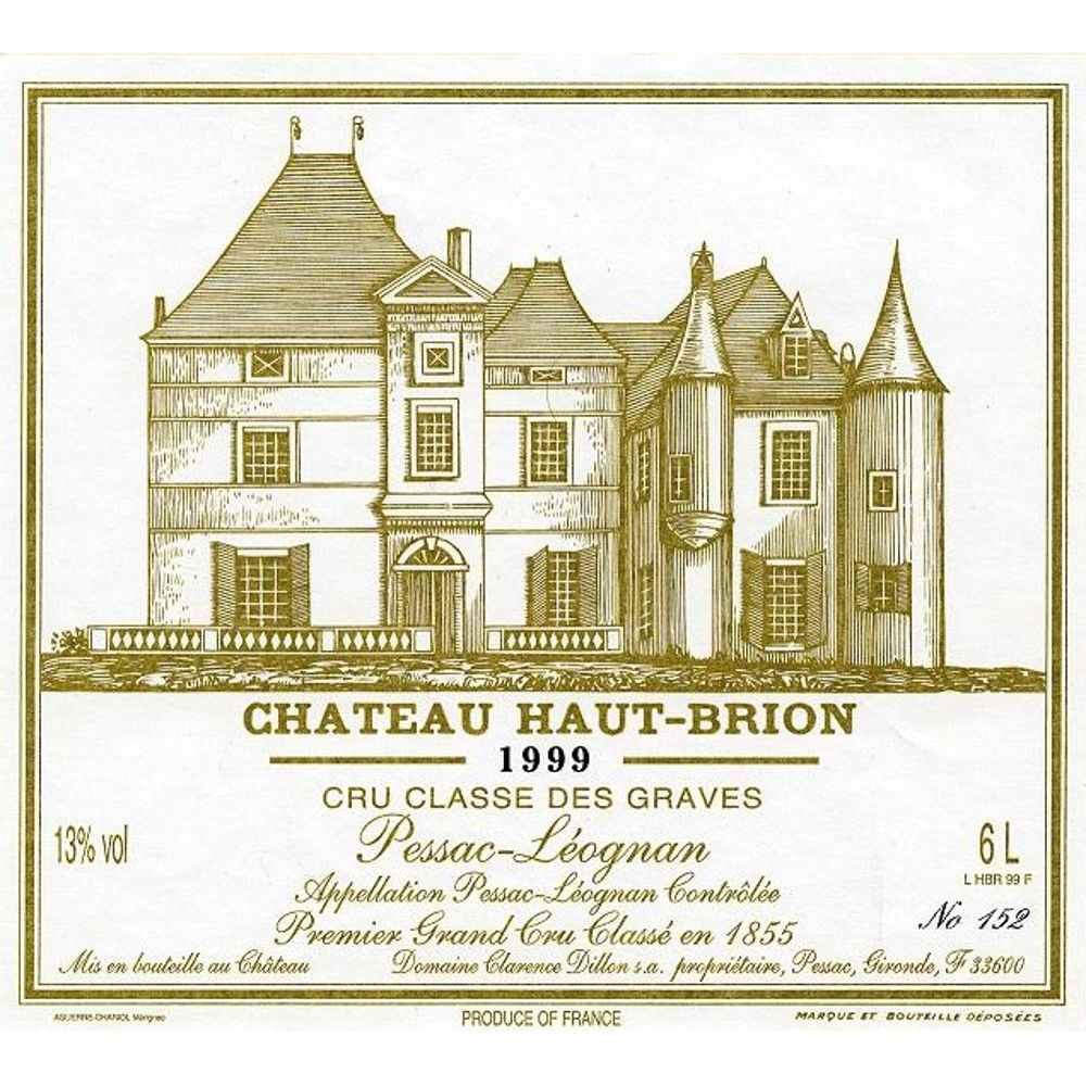 Chateau Haut-Brion (375ML half-bottle) 1999 Front Label