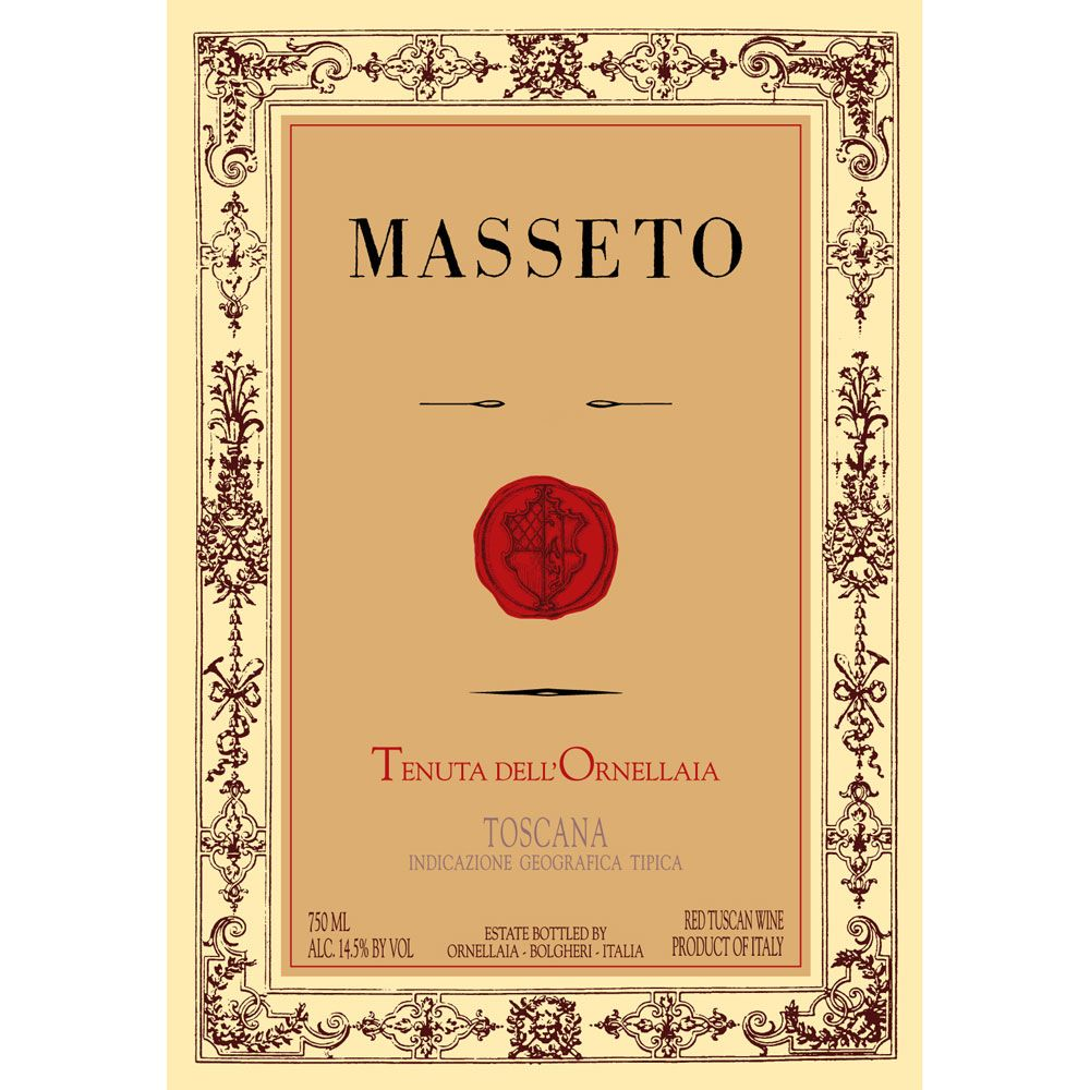 Masseto  2013 Front Label