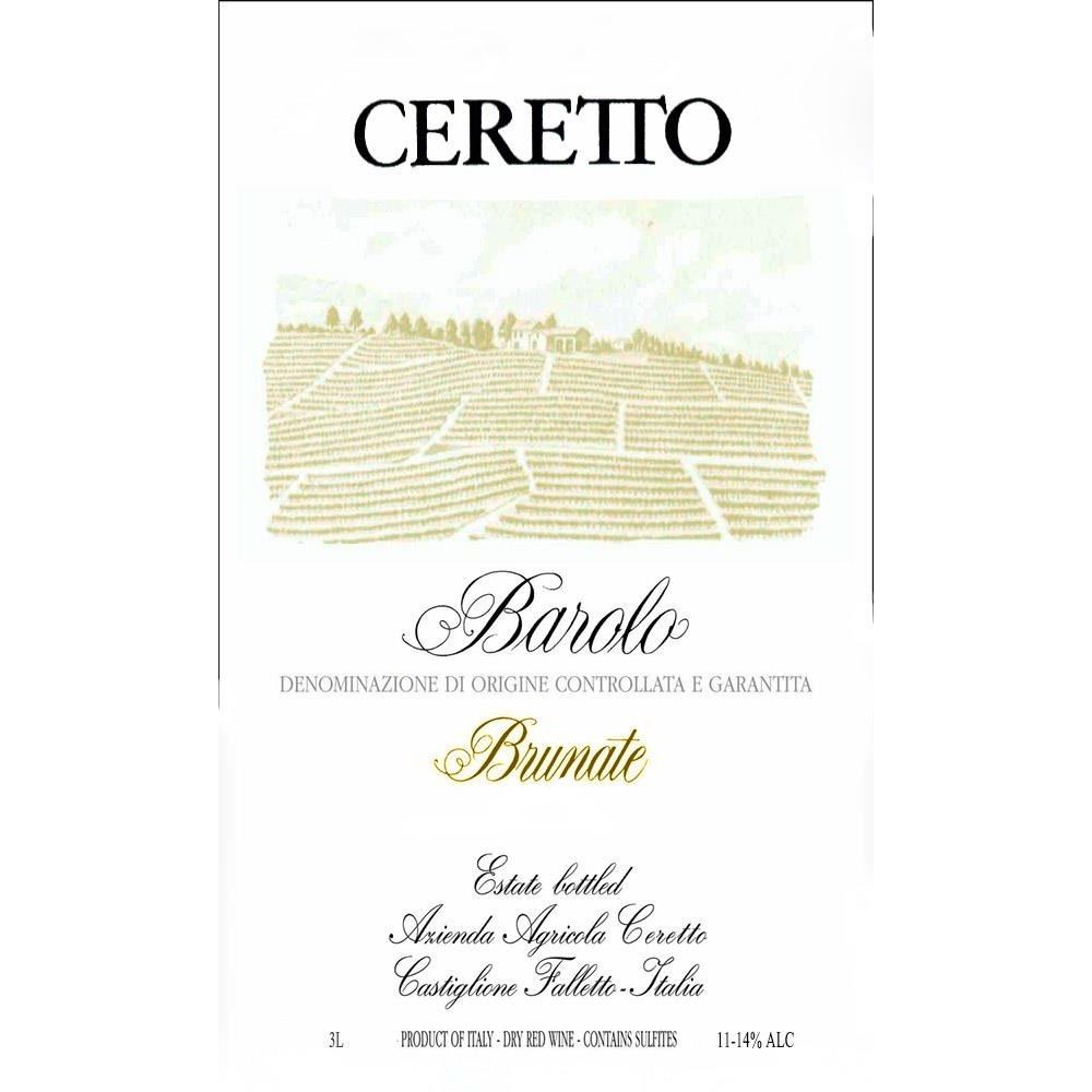 Ceretto Brunate Barolo 2011 Front Label