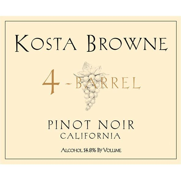 Kosta Browne 4 Barrel Pinot Noir 2014 Front Label
