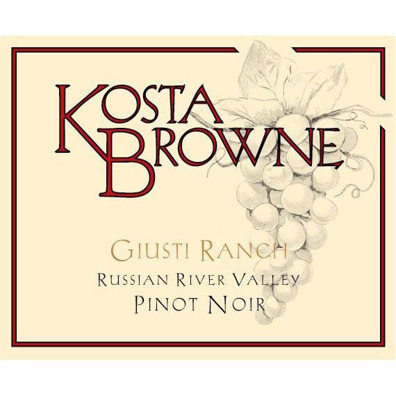 Kosta Browne Giusti Ranch Pinot Noir 2014 Front Label