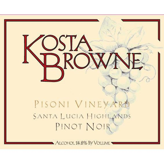 Kosta Browne Pisoni Vineyard Pinot Noir 2014 Front Label