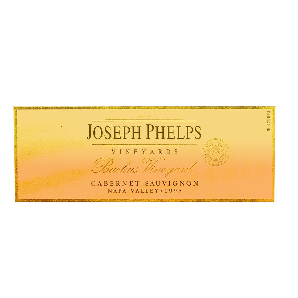 Joseph Phelps Backus Vineyard Cabernet Sauvignon 1995 Front Label