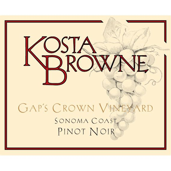 Kosta Browne Gap's Crown Vineyard Pinot Noir 2014 Front Label