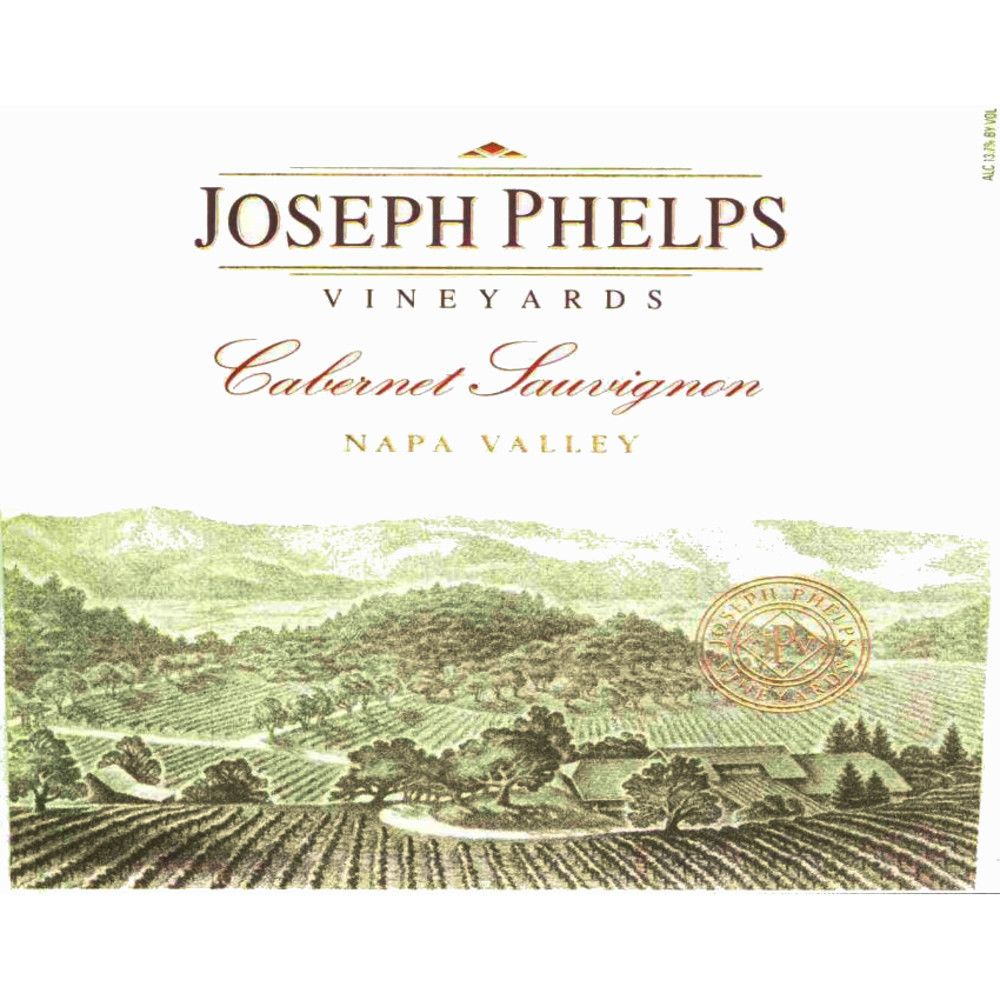 Joseph Phelps Cabernet Sauvignon (stained label) 1995 Front Label