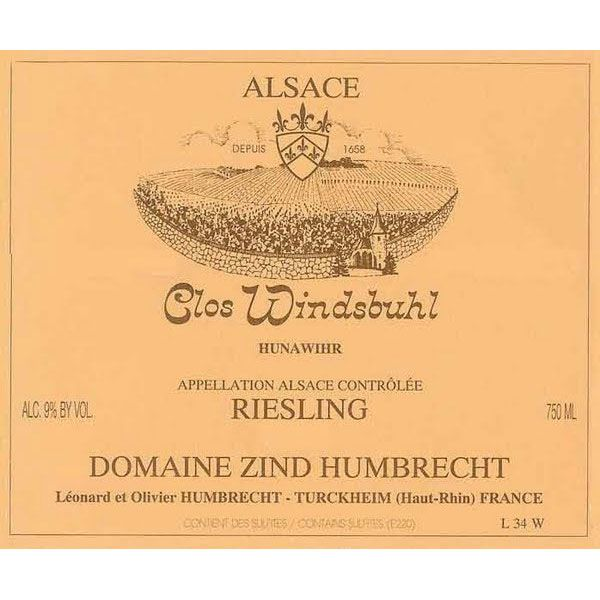 Zind-Humbrecht Clos Windsbuhl Riesling 2014 Front Label