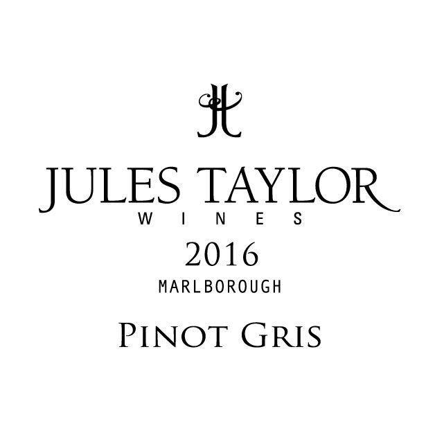 Jules Taylor Pinot Gris 2016 Front Label