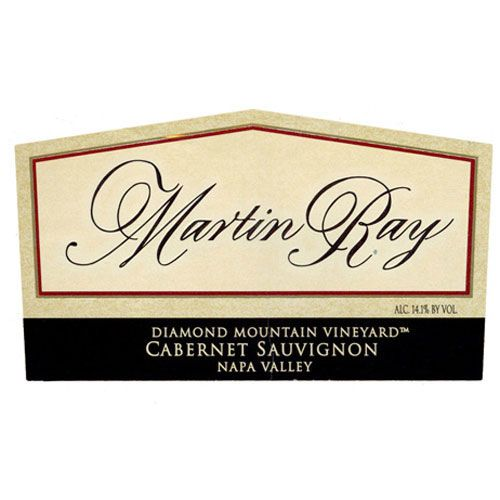 Martin Ray Diamond Mountain Cabernet Sauvignon 1996 Front Label