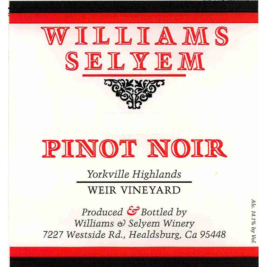 Williams Selyem Weir Vineyard Pinot Noir 2014 Front Label