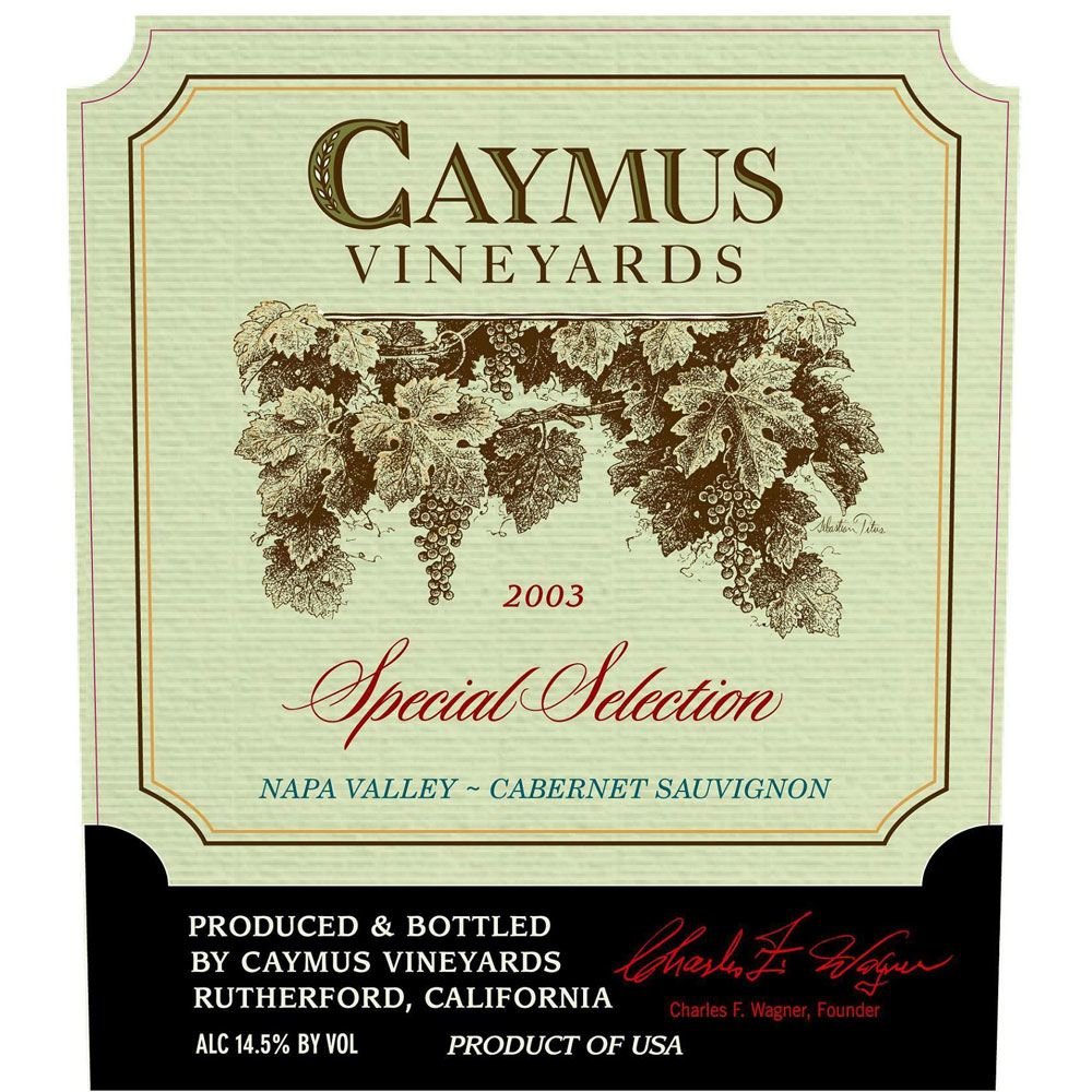 Caymus Special Selection Cabernet Sauvignon (1.5 Liter Magnum) 2003 Front Label