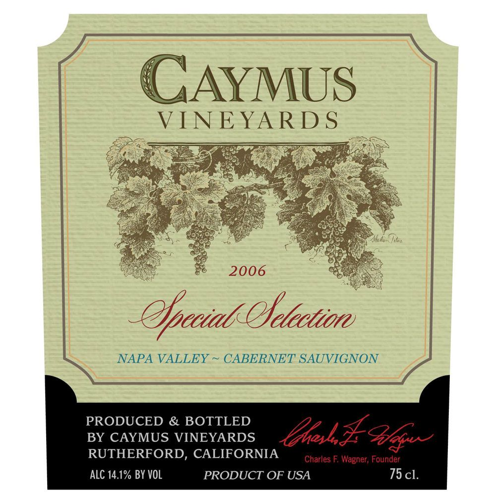 Caymus Special Selection Cabernet Sauvignon (1.5 Liter Magnum) 2006 Front Label