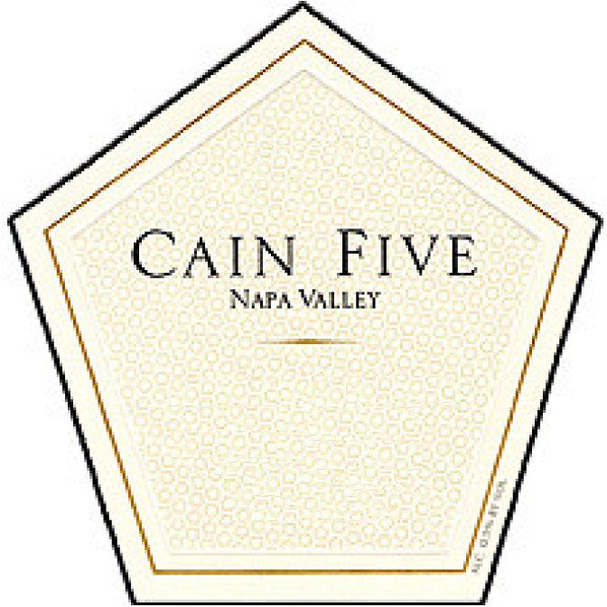 Cain Cain Five (6 Liter - cracked wax capsule) 1993 Front Label