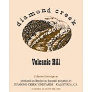 Diamond Creek Volcanic Hill Cabernet Sauvignon (Stained Label) 1993 Front Label