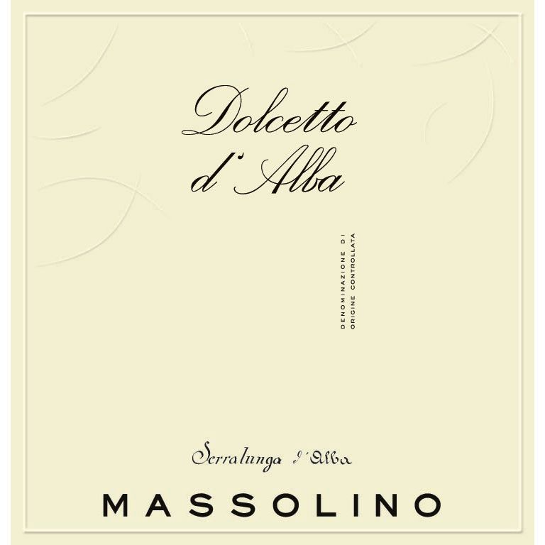Massolino Dolcetto d'Alba 2015 Front Label