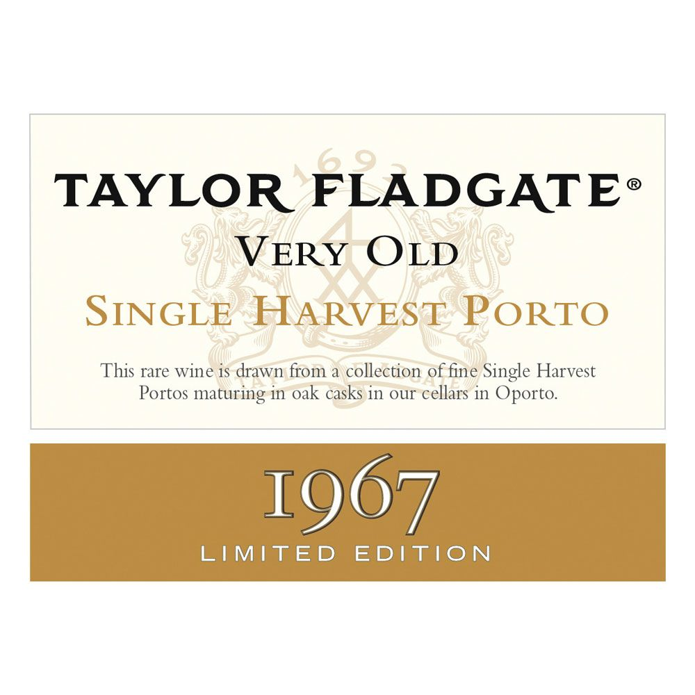 Taylor Fladgate Very Old Single Harvest Port 1967 Front Label