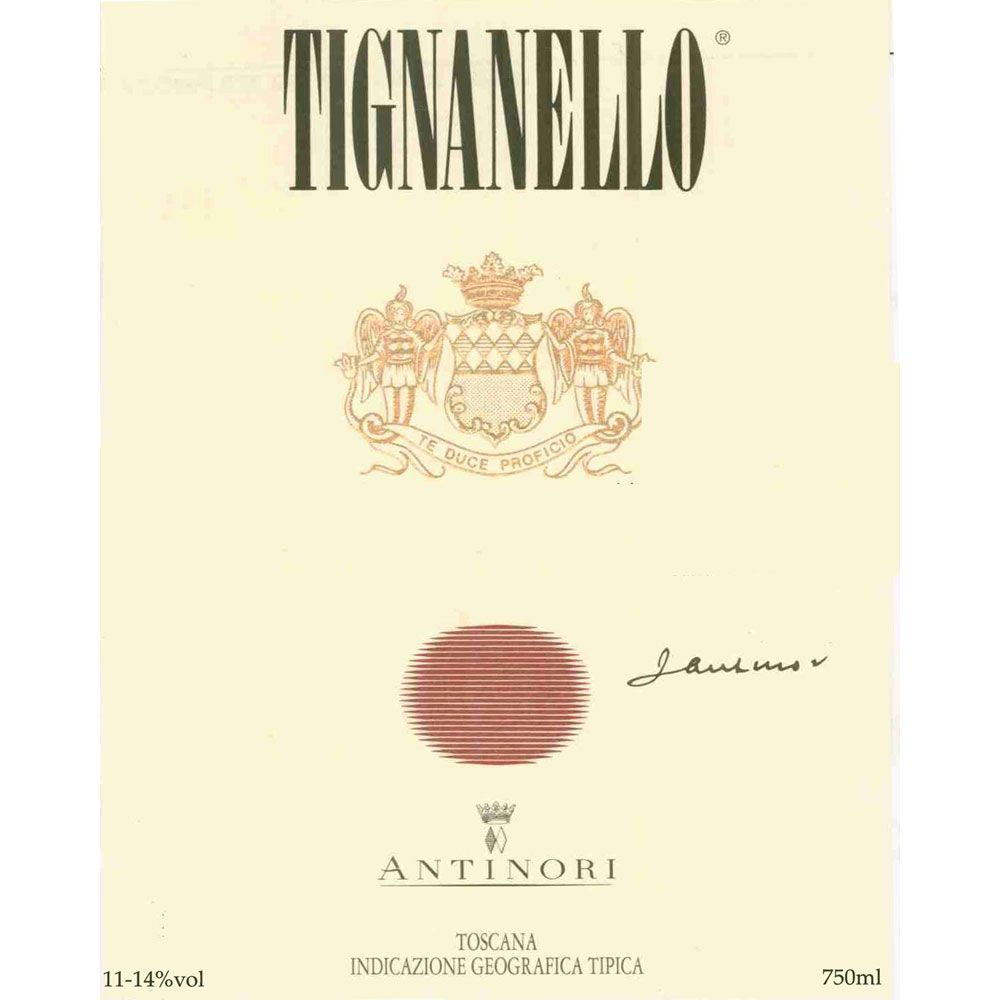 Antinori Tignanello 1995 Front Label