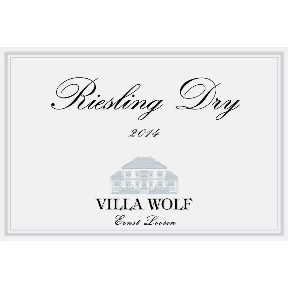 Villa Wolf Riesling Dry 2015 Front Label
