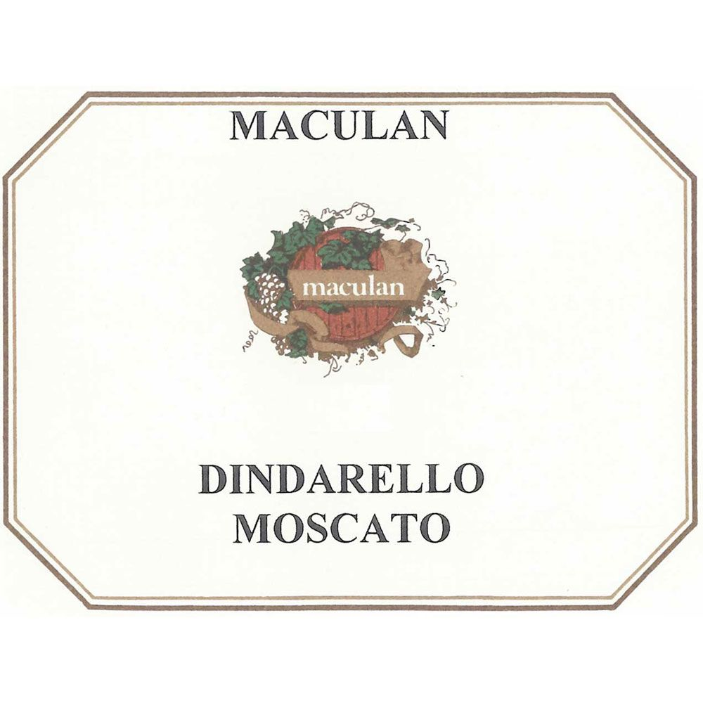 Maculan Dindarello (375ML half-bottle) 2015 Front Label